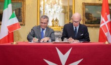 Sovereign Order of Malta and Italy signed an  international cooperation agreement
